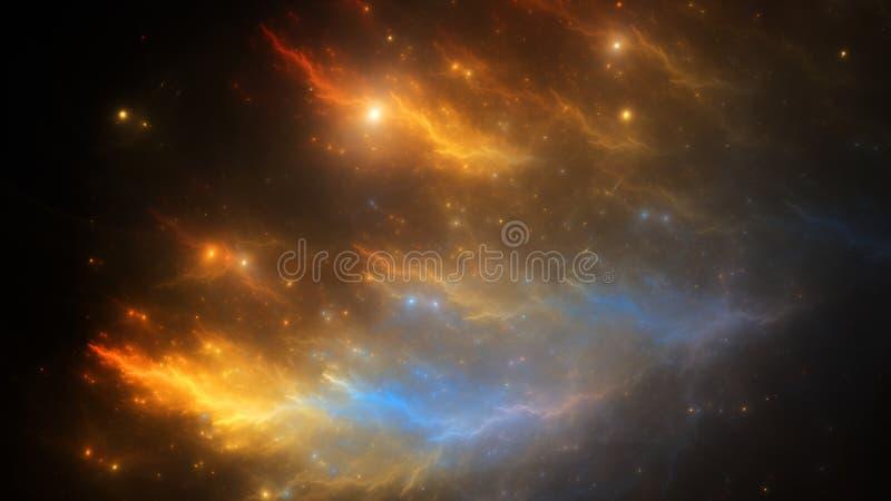 El ejemplo abstracto del fractal parece galaxias libre illustration