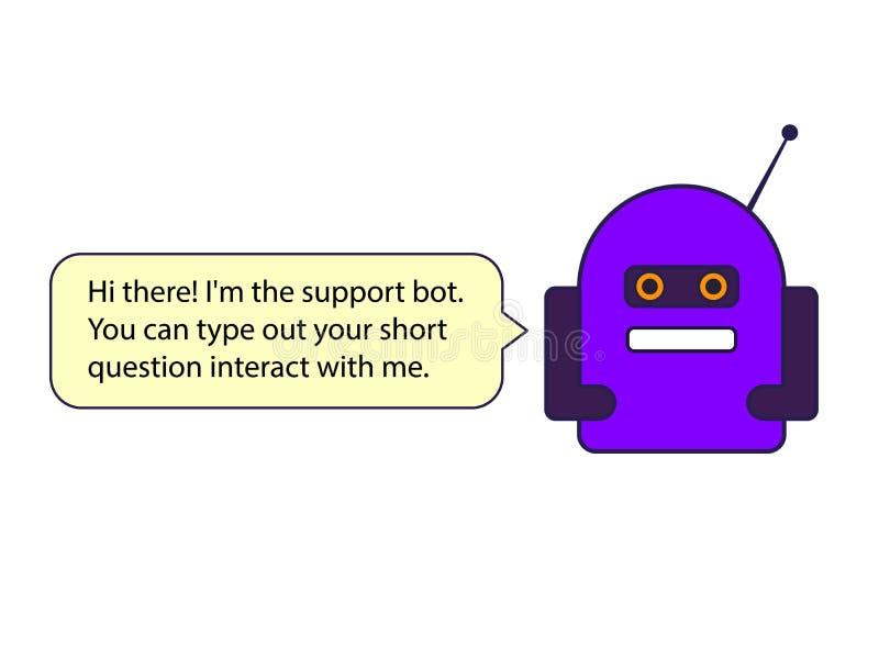 El ejemplo azul del bot de la charla Éste es el vector fotos de archivo libres de regalías