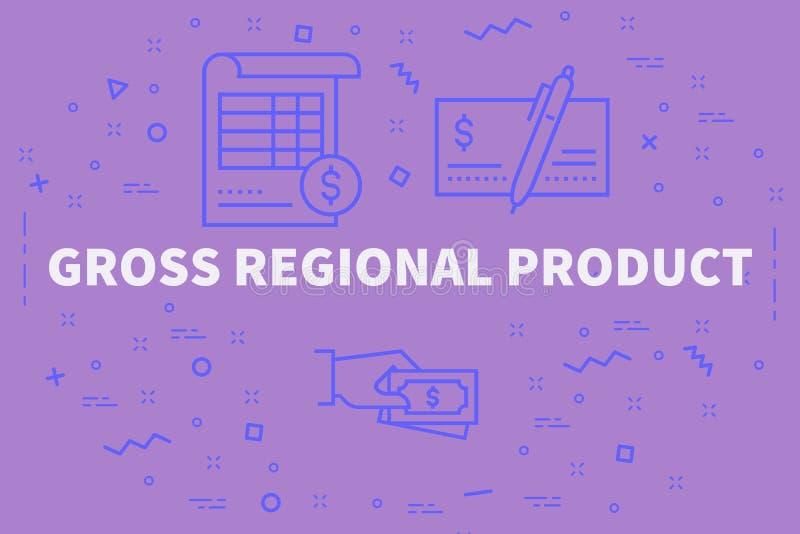 El ejemplo conceptual del negocio con las palabras gana en total p regional stock de ilustración