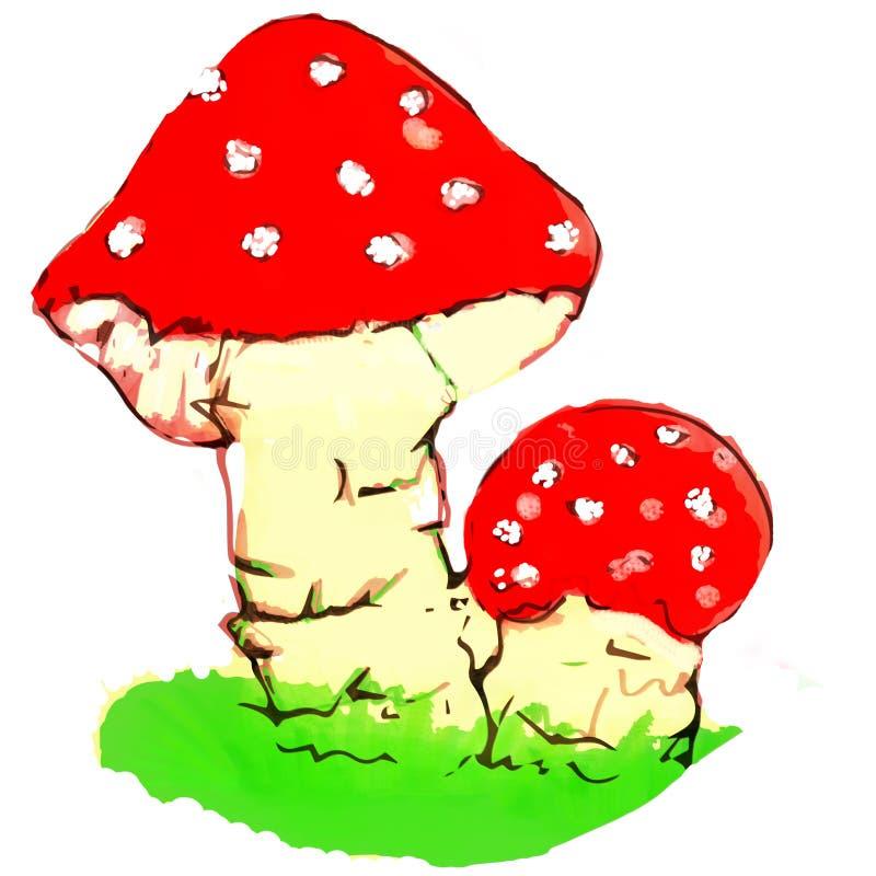 El ejemplo condicional comestible de las setas hizo en photoshop libre illustration