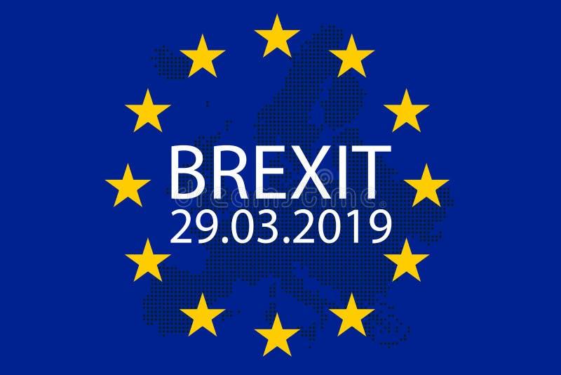 El ejemplo de Brexit Gran Bretaña sale de la UE libre illustration
