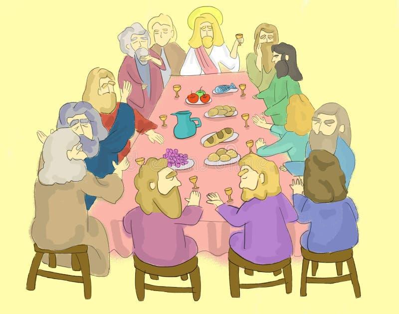 El ejemplo de la última cena ilustración del vector