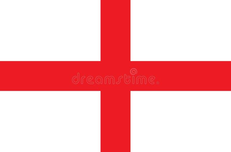 El ejemplo de la bandera de Inglaterra Y fondo del vector libre illustration