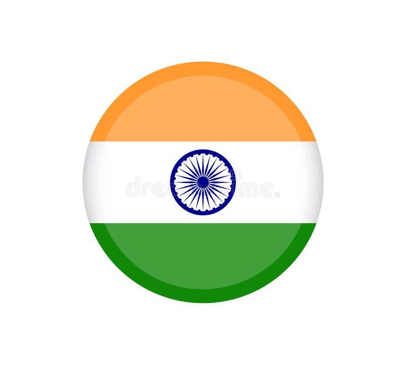 El ejemplo de la bandera de la India formó como un corazón La bandera de la India, colores oficiales y proporcióna correctamente  libre illustration