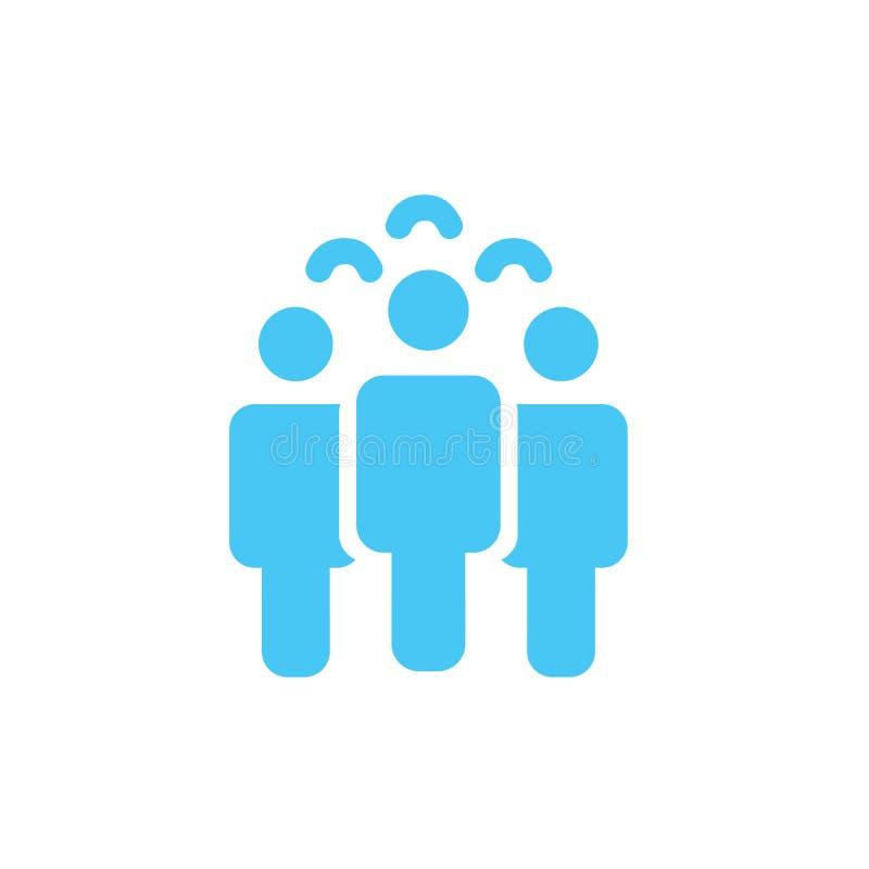 El ejemplo de la muchedumbre de icono de la gente siluetea vector Icono social Diseño plano del estilo Red del grupo de usuarios  stock de ilustración