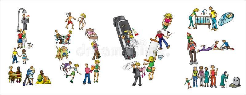 El ejemplo de la vida de un par redacta amor libre illustration