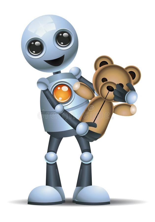 El ejemplo de un pequeño robot lleva el juguete ilustración del vector