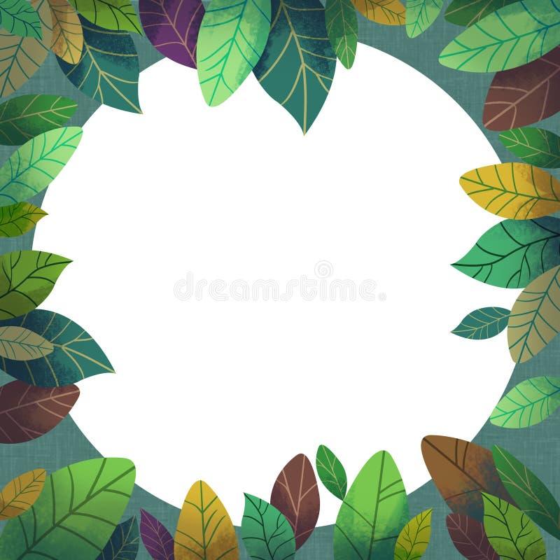 El ejemplo del mundo de la imaginación de los niños: Misterio Forest Card stock de ilustración