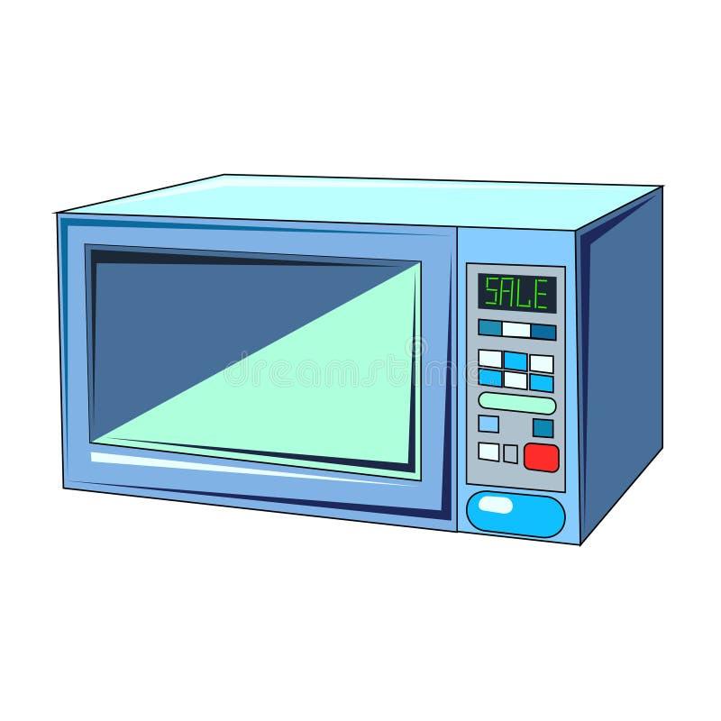 El ejemplo del vector del horno de microondas de еlectric stock de ilustración