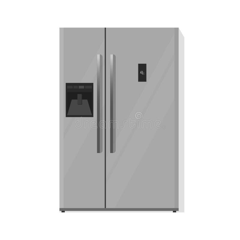 El ejemplo del vector del refrigerador aislado, platea el refrigerador de dos puertas libre illustration
