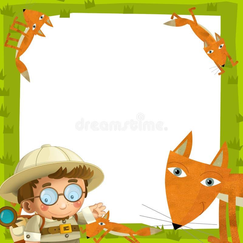 El marco de la naturaleza - madera - ejemplo para los niños libre illustration