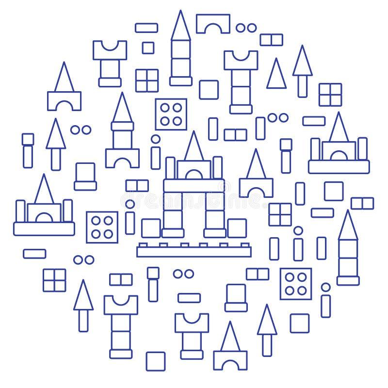 El ejemplo lindo del vector con los niños \ 'diseñador de s arregló en a libre illustration