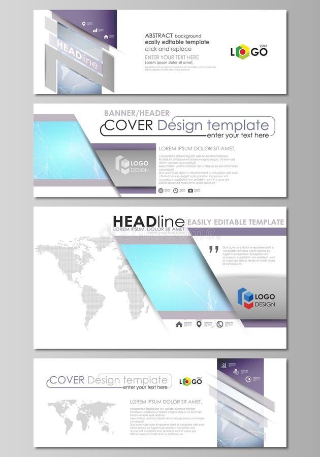 El ejemplo minimalistic del vector de la disposición editable de medios sociales, jefes del correo electrónico, plantillas del di libre illustration