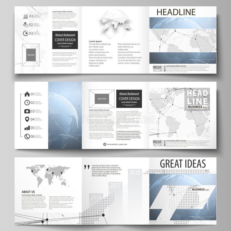 El ejemplo minimalistic del vector de la disposición editable Tres plantillas creativas del diseño de las cubiertas para el folle libre illustration