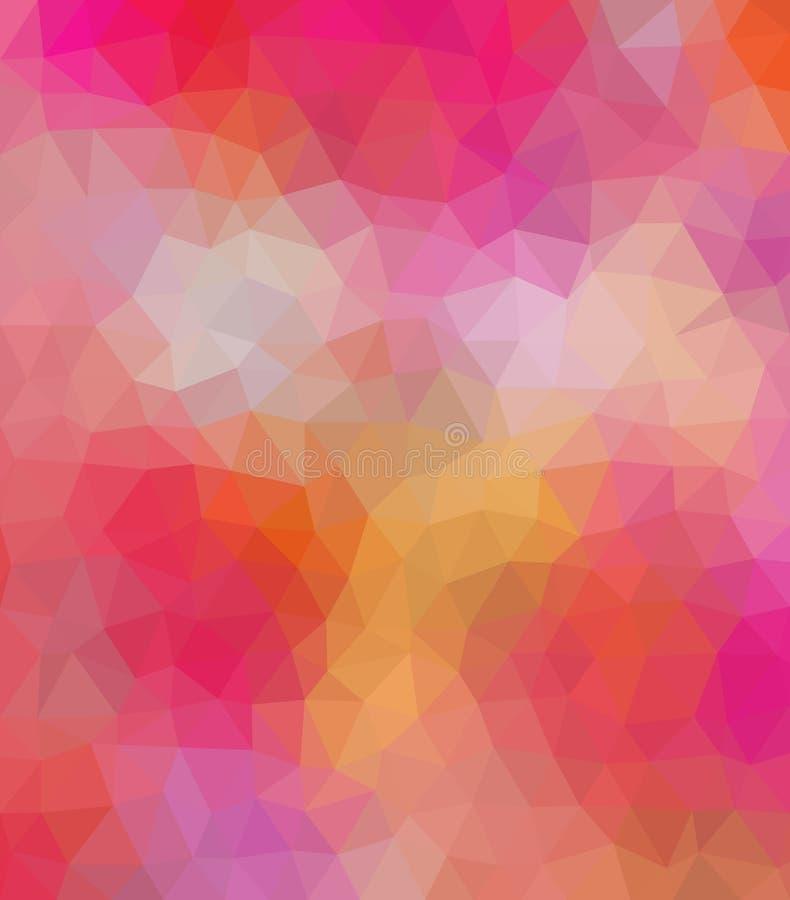 El ejemplo poligonal coloreado consiste en triángulos Fondo geométrico stock de ilustración