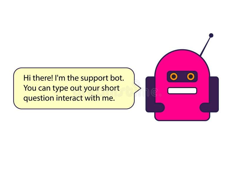 El ejemplo rojo del bot de la charla Éste es el vector imagenes de archivo