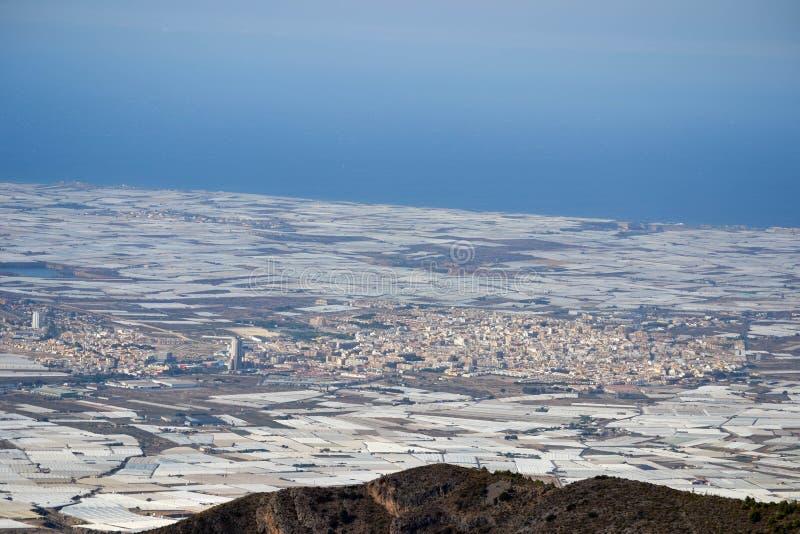 EL Ejido Almería del paisaje imágenes de archivo libres de regalías