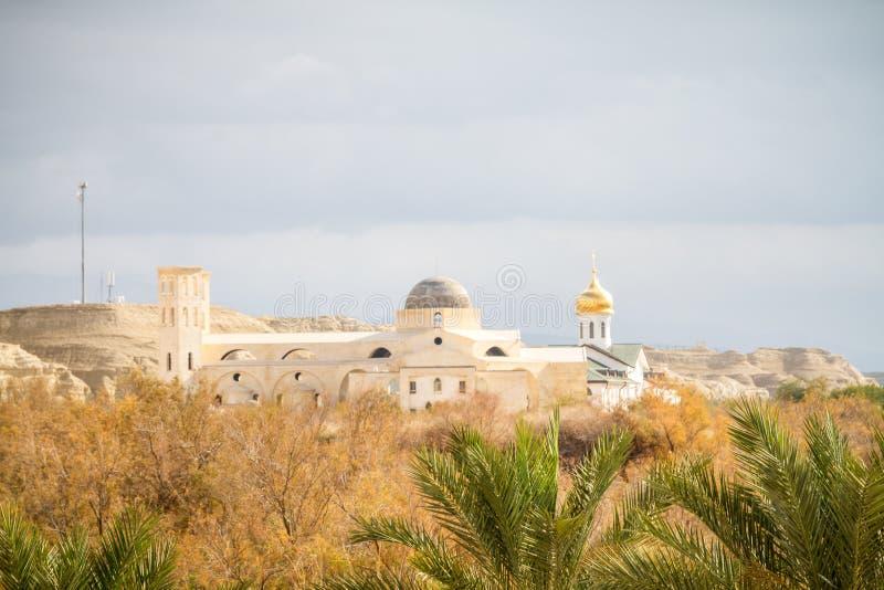 El EL Yahud, la iglesia ortodoxa de Qasr en Jordan River Valley, Israel imágenes de archivo libres de regalías