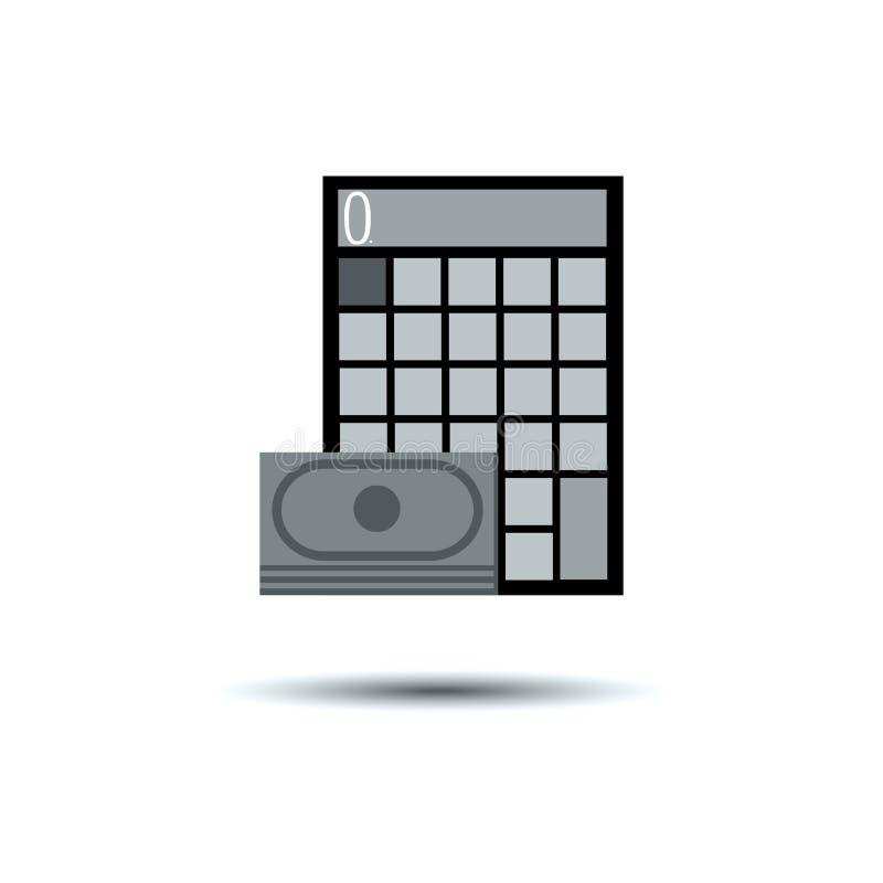 El electrón del botón del icono del vector de la calculadora calcula negocio ilustración del vector
