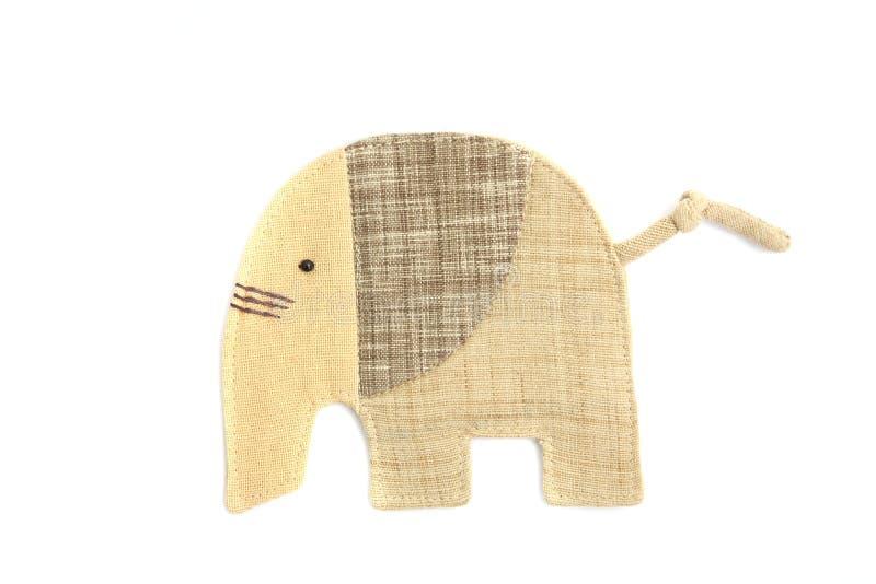 El elefante lindo cose por el paño fotografía de archivo