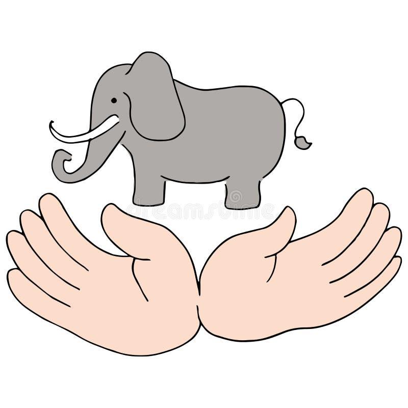 El elefante protege ilustración del vector