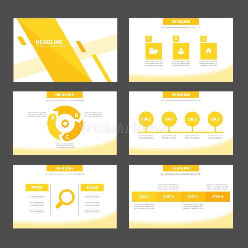 El elemento infographic del verde abstracto de la hoja y el diseño plano de las plantillas de la presentación del icono fijaron p libre illustration