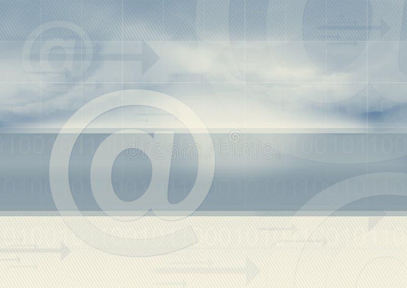 El email transfiere el gráfico   stock de ilustración