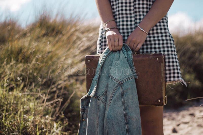 El embalar para la playa foto de archivo