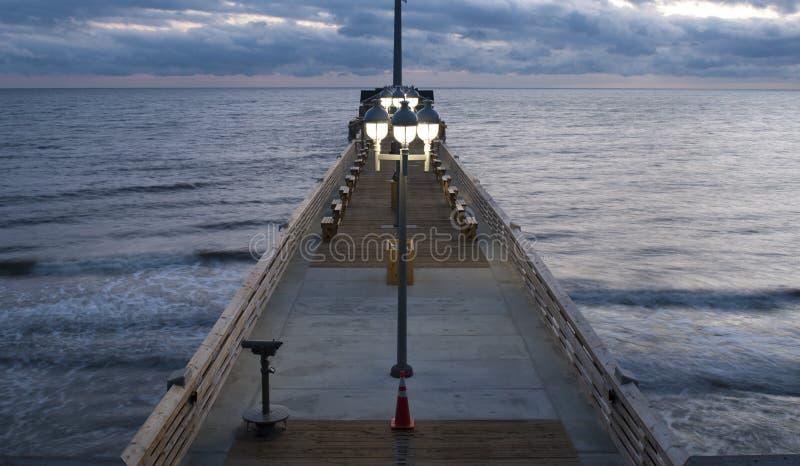 El embarcadero de Jennette en quejas dirige, NC, los E.E.U.U. fotos de archivo libres de regalías