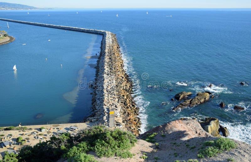 El embarcadero en Dana Point Harbor, California meridional fotografía de archivo libre de regalías