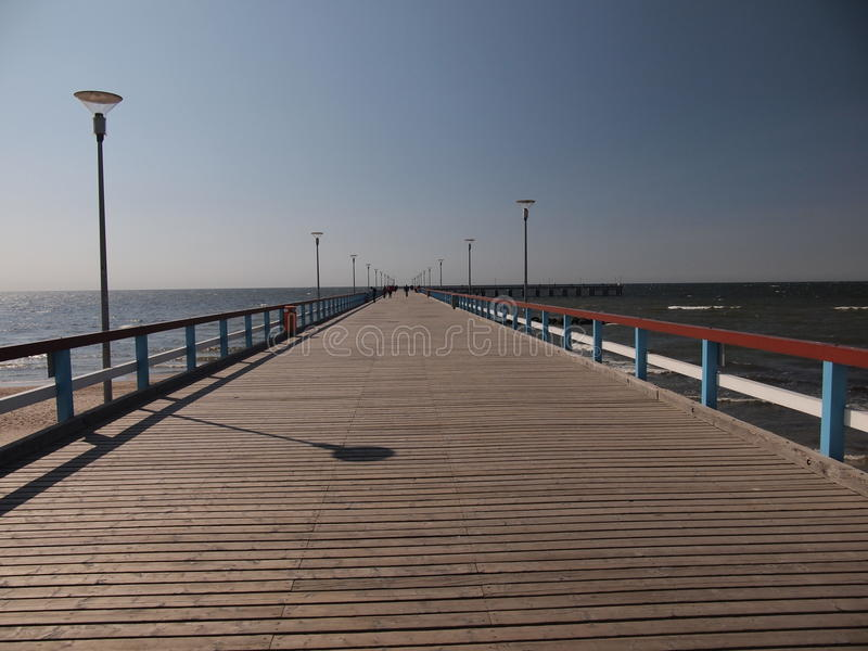 El embarcadero en Palanga (Lituania) fotografía de archivo libre de regalías
