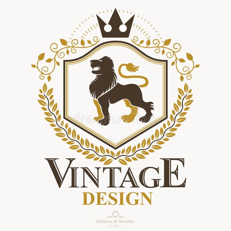 El emblema con clase, vector el escudo de armas heráldico libre illustration