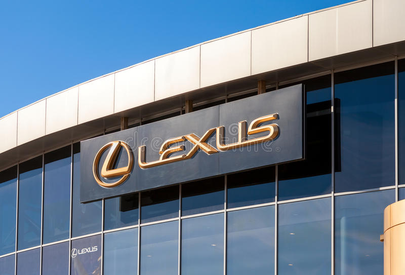 El emblema Lexus foto de archivo libre de regalías