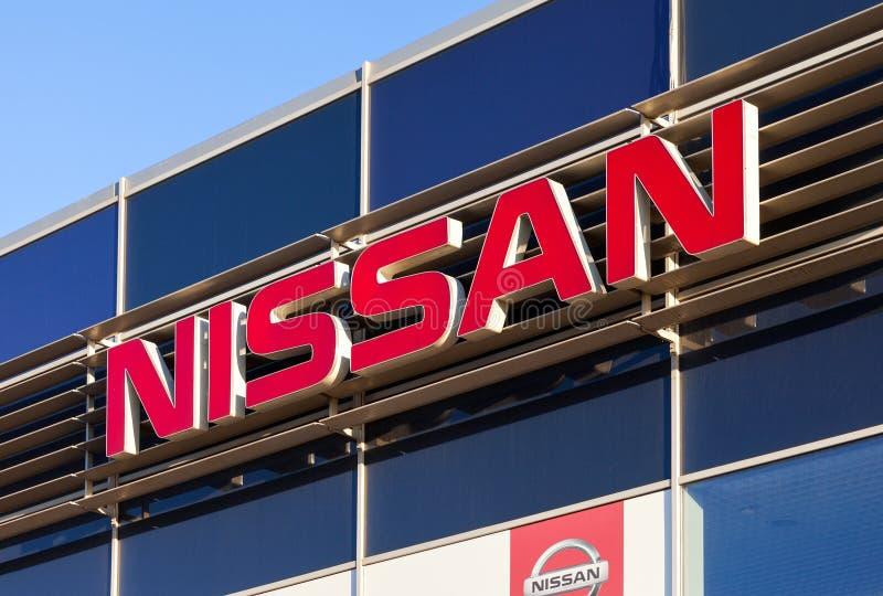 El emblema Nissan foto de archivo libre de regalías