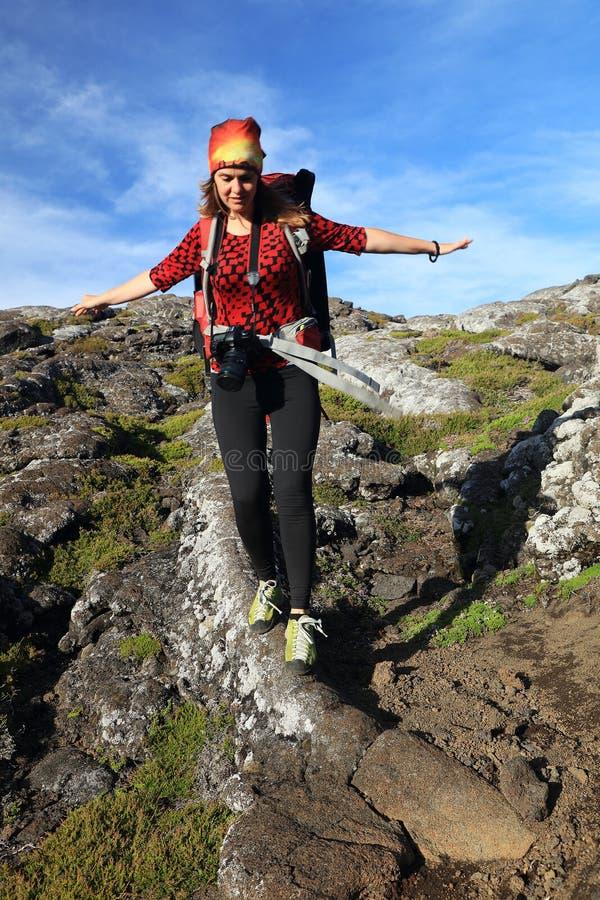 El emigrar en Pico Volcano foto de archivo libre de regalías
