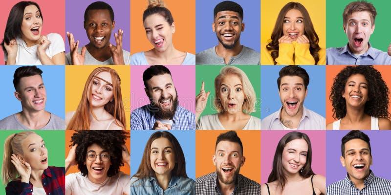 El emotionc de la gente y concepto de los gestos foto de archivo libre de regalías
