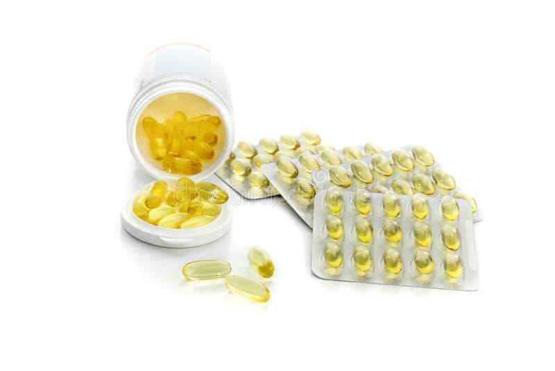 El empaquetado con el primer de las vitaminas imagen de archivo