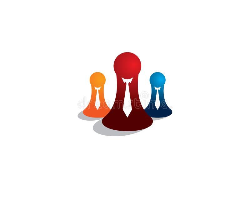 el empeño del ajedrez 3 con el lazo y los trajes, uno de ellos sintieron bien al líder de otro stock de ilustración