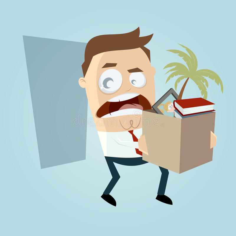El empleado enojado abandonó su trabajo libre illustration