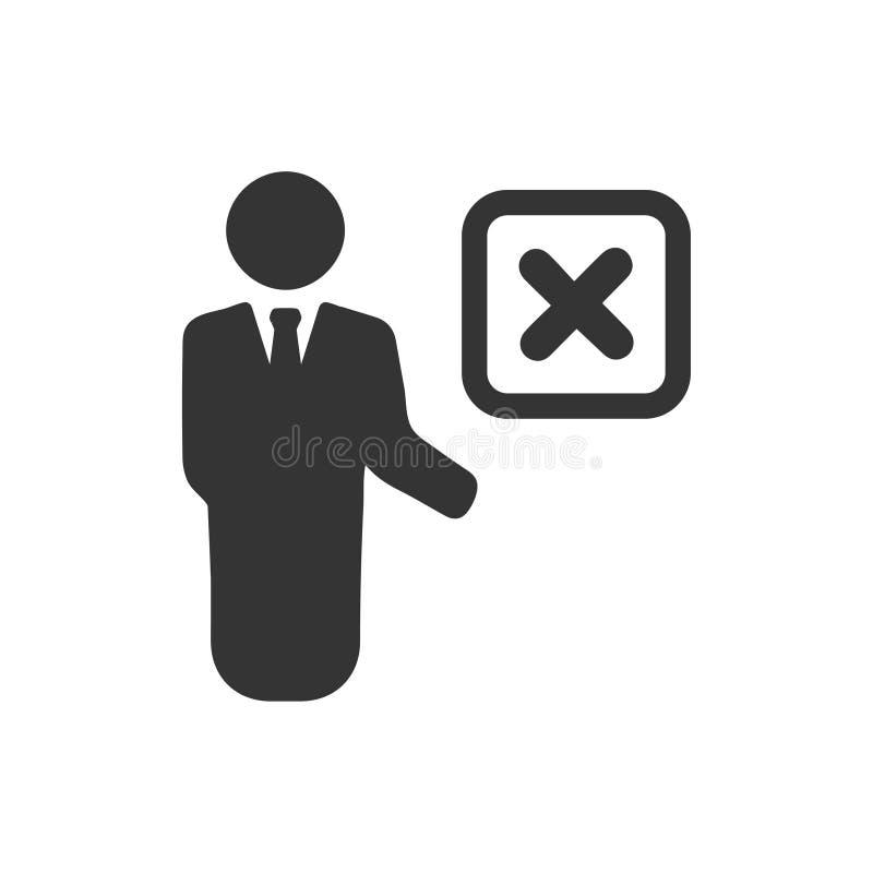 El empleado quita el icono libre illustration