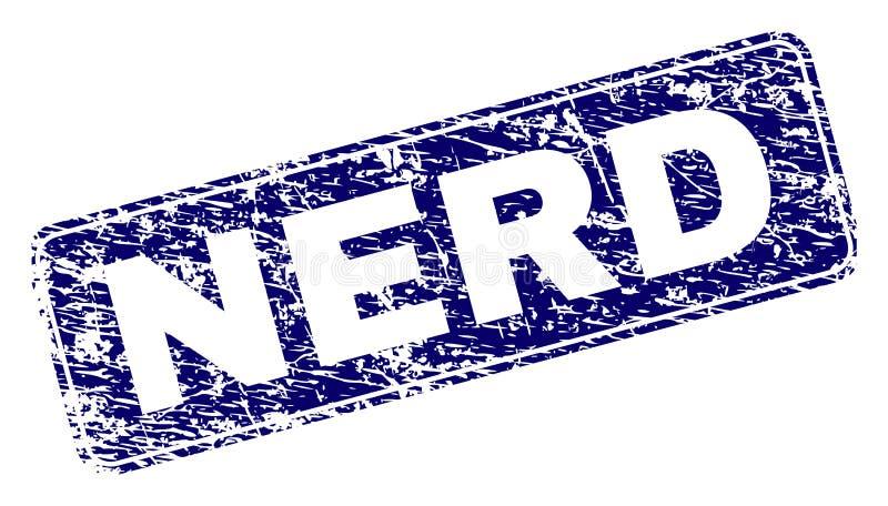 El EMPOLLÓN del Grunge enmarcó el sello redondeado del rectángulo libre illustration
