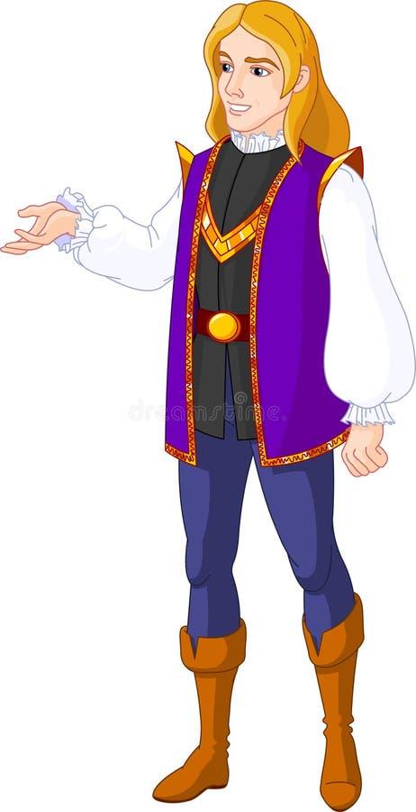 El encantar de príncipe ilustración del vector