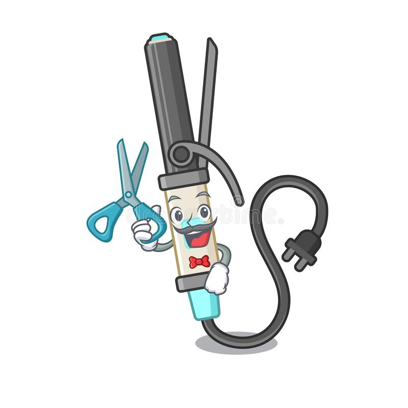 El encresparse del hierro del peluquero aislado en la mascota libre illustration