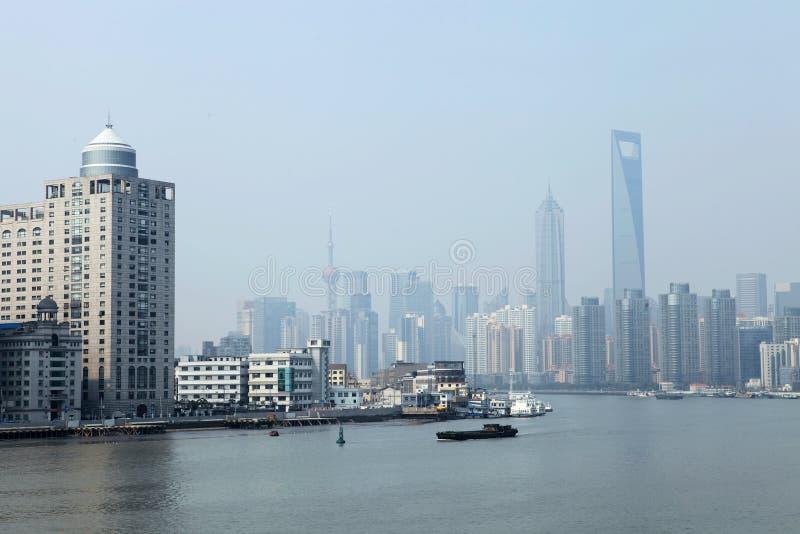 El enlace en Shangai, China fotografía de archivo