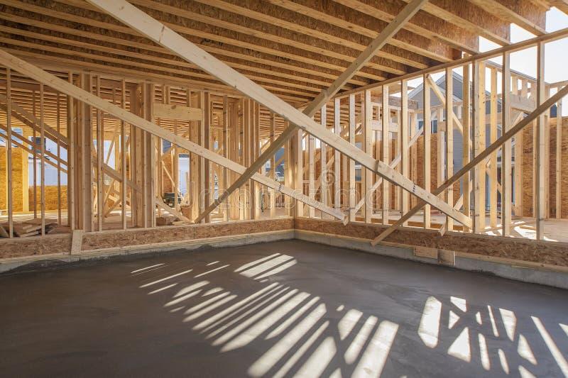 El enmarcar interior de la nueva casa