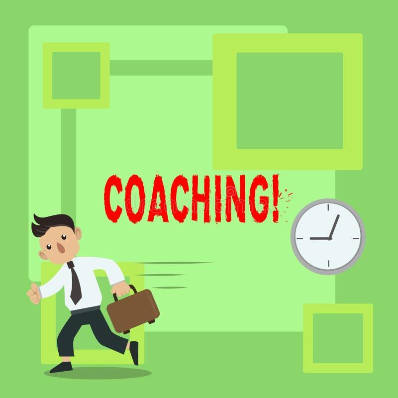 El entrenar del texto de la escritura El entrenamiento duro del significado del concepto comienza al imrove sus habilidades stock de ilustración