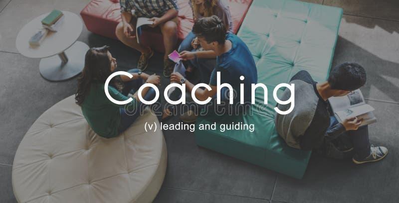 El entrenar educando al instructor Management Concept imagen de archivo