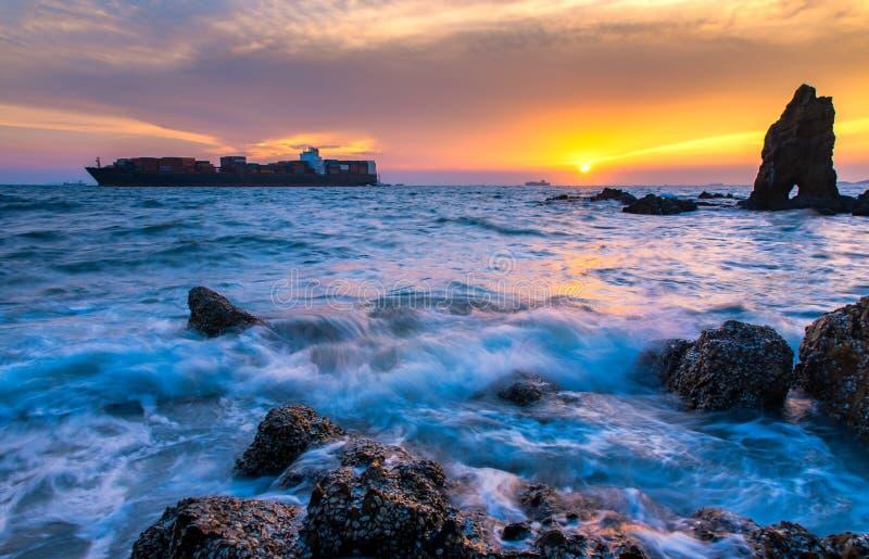 El envío en el mar fotografía de archivo libre de regalías