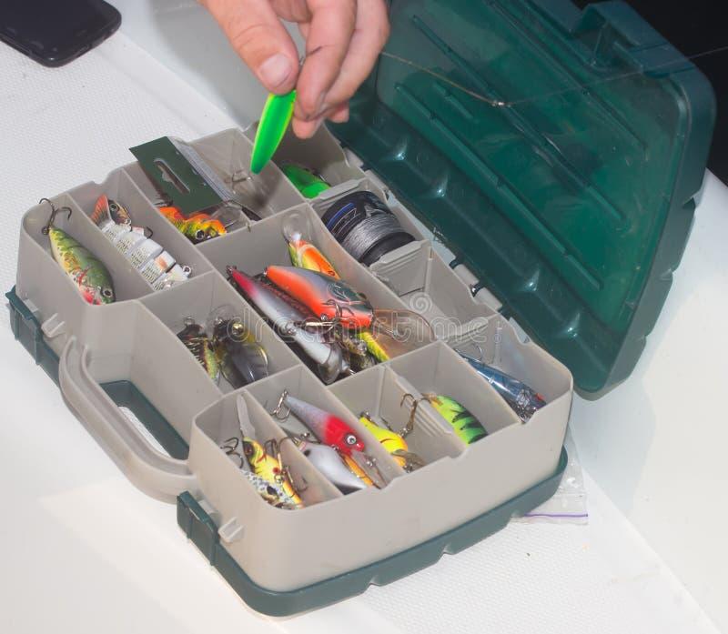 El equipo de pesca fotografía de archivo