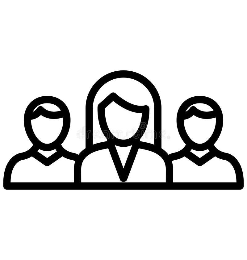 El equipo del negocio aisl? el icono del vector que puede modificarse o corregir f?cilmente stock de ilustración